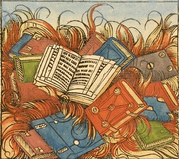 Todos os seus livros queimando em um incêndio. :(